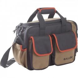 Ray Allen - 8226 - Allen Springs Compact Carrying Case for Gun, Handgun Magazine - Brown, Black, Orange, Coffee - Shoulder Strap - 10.8 Height x 14.8 Width x 6.3 Depth