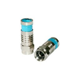 C2G (Cables To Go) / Legrand - 41075 - C2G RG6 Quad Compression F-Type Connector with O-Ring - 10pk - F Connector