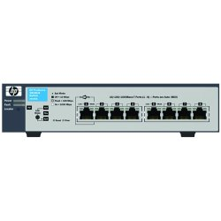 Hewlett Packard (HP) - J9449A#ABA - HP ProCurve 1810G-8 Gigabit Ethernet Switch - 1 x 10/100/1000Base-T, 7 x 10/100/1000Base-T