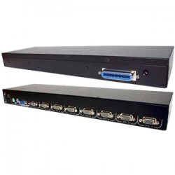 StarTech - CAB831HD - StarTech.com 8-port KVM Module for Rack-mount LCD Consoles with additional PS/2 and VGA Console - 8 x 1 - 8 x HD-15 - 1U - Rack-mountable