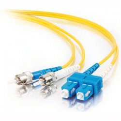 C2G (Cables To Go) - 37499 - C2G-20m SC-ST 9/125 OS1 Duplex Singlemode PVC Fiber Optic Cable - Yellow - Fiber Optic for Network Device - SC Male - ST Male - 9/125 - Duplex Singlemode - OS1 - 20m - Yellow