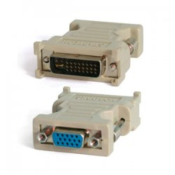 StarTech - DVIVGAMF - StarTech.com DVI to VGA Cable Adapter - M/F - 1 Pack - 1 x HD-15 Female - 1 x DVI-I Male Video