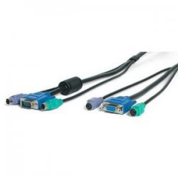 StarTech - 3N1PSEXT15BK - StarTech.com 15 ft Black 3-in-1 PS/2 KVM Extension Cable - 15ft - Black