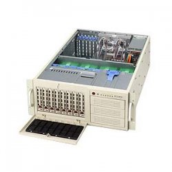 Supermicro - SYS-7045A-T - Supermicro SuperServer 7045A-T Barebone System - Intel 5000X - LGA771 Socket - Xeon (Quad-core), Xeon (Dual-core) - 1333MHz, 1066MHz, 800MHz Bus Speed - 32GB Memory Support - Gigabit Ethernet - 4U Rack