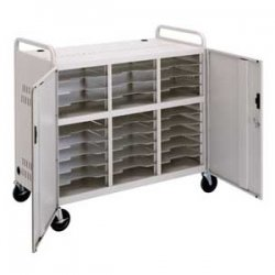 "Da-Lite - 5100 - Da-Lite CT-LS30 Laptop Storage Cart - 4 Casters - 5"" Caster Size - Steel - 44"" Width x 22"" Depth x 42"" Height - Gray - For 30 Devices"