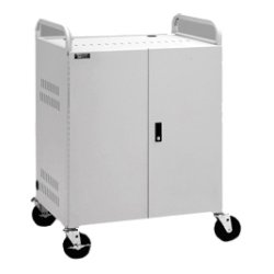 Da-Lite - 6300 - Da-Lite CT-LS20 20 Unit Laptop Storage Cart - 30 Width x 23.3 Depth x 43.1 Height - Dove Gray