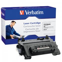 Verbatim / Smartdisk - 97091 - Verbatim Remanufactured Laser Toner Cartridge alternative for HP CC364A - Black - Laser - 10000 Page - 1 / Each
