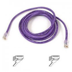 Belkin / Linksys - A3L791-07-PUR - Belkin Cat5e Patch Cable - RJ-45 Male Network - RJ-45 Male Network - 7ft - Purple