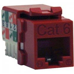 Tripp Lite - N238-001-RD - Tripp Lite N238-001-RD 110 Style Punch Down Keystone Jack - 1 x RJ-45 Female - Red
