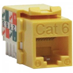 Tripp Lite - N238-001-YW - N238-001-YW Cat6 110-punch Down Keystone Jack - 1 x RJ45 Female - Yellow