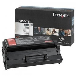 Lexmark - 08A0475 - Lexmark Toner Cartridge - Black - Laser - 3000 Pages - 1 Each