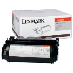 Lexmark - 12A7360 - Lexmark Black Toner Cartridge - Black - Laser - 5000 Page