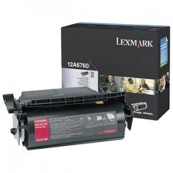 Lexmark - 12A6760 - Lexmark Original Toner Cartridge - Laser - 10000 Pages - Black - 1 Pack