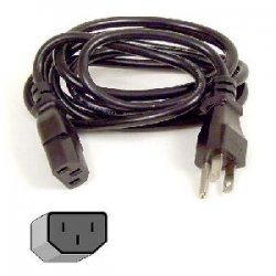 Belkin / Linksys - F3A104B06 - Belkin - Power cable - NEMA 5-15 (M) to IEC 320 EN 60320 C13 (M) - 6 ft