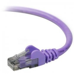 Belkin / Linksys - A3L980-03-PUR-S - Belkin Cat.6 UTP Cable - RJ-45 Male - RJ-45 Male - 3ft - Purple