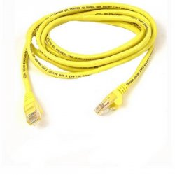 Belkin / Linksys - A3X189-07-YLW-S - Belkin Cat6 Crossover Cable - RJ-45 Male - RJ-45 Male - 7ft - Yellow