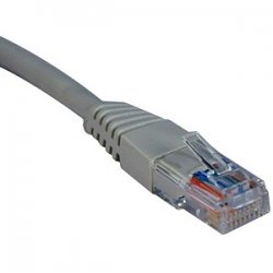 Tripp Lite - N002-001-GY - Tripp Lite 1ft Cat5e / Cat5 350MHz Molded Patch Cable RJ45 M/M Gray 1' - 1ft - Gray
