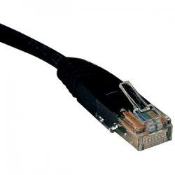 Tripp Lite - N002-002-BK - Tripp Lite 2ft Cat5e / Cat5 350MHz Molded Patch Cable RJ45 M/M Black 2' - Category 5e for Network Device - Patch Cable - 2 ft - 1 Pack - 1 x RJ-45 Male Network - 1 x RJ-45 Male Network - Black