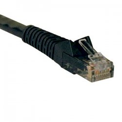 Tripp Lite - N201-001-BK - Tripp Lite 1ft Cat6 Gigabit Snagless Molded Patch Cable RJ45 M/M Black 1' - 1ft