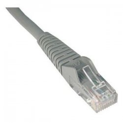 Tripp Lite - N201-001-GY - Tripp Lite 1ft Cat6 Gigabit Snagless Molded Patch Cable RJ45 M/M Gray 1' - 1ft - Gray
