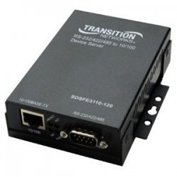 Transition Networks - SDSFE3110-120 - Transition Networks 1-Port Device Server - 1 x DB-9 , 1 x RJ-45