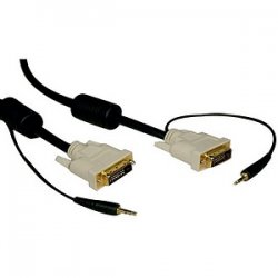 Tripp Lite - P560-010-A - Tripp Lite 10ft DVI Dual Link Digital TMDS Monitor Cable with Audio Cable DVI-D 3.5mm M/M 10' - (DVI-D and 3.5mm M/M) 10-ft.