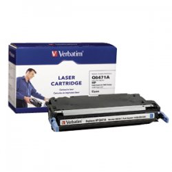 Verbatim / Smartdisk - 95540 - Verbatim Remanufactured Laser Toner Cartridge alternative for HP Q6471A Cyan - Cyan - Laser