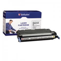 Verbatim / Smartdisk - 95541 - Verbatim Remanufactured Laser Toner Cartridge alternative for HP Q6472A Yellow - Yellow - Laser