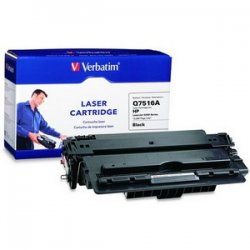 Verbatim / Smartdisk - 96459 - Verbatim Remanufactured Laser Toner Cartridge alternative for HP Q7516A - Black - Laser - 12000 Page - 1 / Pack