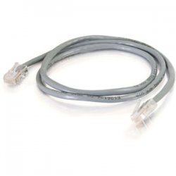 C2G (Cables To Go) - 24960 - 2ft Cat5e Non-Booted Unshielded (UTP) Network Patch Cable - Gray - Category 5e for Network Device - RJ-45 Male - RJ-45 Male - 2ft - Gray