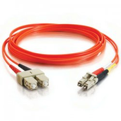C2G (Cables To Go) - 37951 - 2m LC-SC 62.5/125 OM1 Duplex Multimode Fiber Optic Cable - Plenum CMP-Rated - Orange