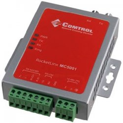 Comtrol - 32001-2 - Comtrol RocketLinx Industrial Serial to Fiber Media Conversion Module - 1 x ST Duplex , 1 x Terminal Block - External