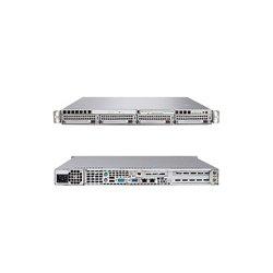 Supermicro - SYS-6015B-UV - Supermicro SuperServer 6015B-UV Barebone System - Intel 5000P - LGA771 Socket - Xeon (Quad-core), Xeon (Dual-core) - 1333MHz, 1066MHz, 667MHz Bus Speed - 32GB Memory Support - DVD-Reader (DVD-ROM) - Gigabit Ethernet - 1U Rack