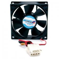 StarTech - FANBOX - StarTech.com 80x25mm Dual Ball Bearing Computer Case Fan w/ LP4 Connector - System fan kit - 80 mm - 80mm - 3000rpm