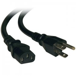 Tripp Lite - P007-006 - Tripp Lite 6ft Computer Power Cord Cable 5-15P to C13 Heavy Duty 15A 14AWG 6' - 14AWG 15A (NEMA 5-15P to IEC-320-C13) 6-ft.
