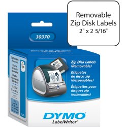 "DYMO - 30370 - Dymo Diskette Labels - 2"" Width x 2.34"" Length - 250 / Roll - White - 250 / Roll"