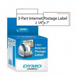 "DYMO - 30383 - Dymo 3-part Return Address PC Postage Labels - 2.25"" Width x 7"" Length - 150 / Roll - Direct Thermal - White - 150 / Roll"