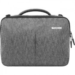 Incipio - CL60594 - Incase Reform Carrying Case (Briefcase) for 13 iPad, MacBook Pro, Accessories - Black Heather - Impact Absorbing - 300D Ecoya - Checkpoint Friendly - Shoulder Strap, Handle