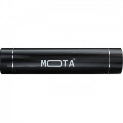 Mota / UNorth - MT-PW2ST-BLCK - MOTA 2,200 mAh Battery Stick - For iPod, iPhone, iPad, USB Device, Mobile Phone - Lithium Ion (Li-Ion) - 2200 mAh - 1 A - 5 V DC Output - 5 V DC Input - Black