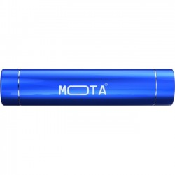 Mota / UNorth - MT-PW2ST-BLUE - MOTA 2,200 mAh Battery Stick - For iPod, iPhone, iPad, USB Device, Mobile Phone - Lithium Ion (Li-Ion) - 2200 mAh - 1 A - 5 V DC Output - 5 V DC Input - Blue
