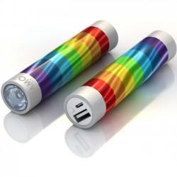 Mota / UNorth - STIK22-RINBW - TAMO RapidFast Super Premium Battery Stick 2200mah Rainbow - For USB Device - Lithium Ion (Li-Ion) - 2200 mAh - 1 A - 5 V DC Output - 5 V DC Input - 2 x - Rainbow