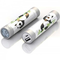 Mota / UNorth - STIK22-PNDA1 - TAMO RapidFast Super Premium Battery Stick 2200mah Panda - For USB Device - Lithium Ion (Li-Ion) - 2200 mAh - 1 A - 5 V DC Output - 5 V DC Input - 2