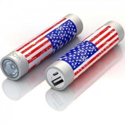 Mota / UNorth - STIK22-USFLG - TAMO RapidFast Super Premium Battery Stick 2200mah US Flag - For USB Device - Lithium Ion (Li-Ion) - 2200 mAh - 1 A - 5 V DC Output - 5 V DC Input - 2
