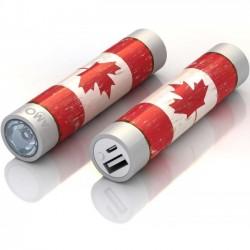 Mota / UNorth - STIK22-CAFLG - TAMO RapidFast Super Premium Battery Stick 2200mah Canada Flag - For USB Device - Lithium Ion (Li-Ion) - 2200 mAh - 1 A - 5 V DC Output - 5 V DC Input - 2
