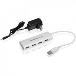 IOGear - GUH304PX - IOGEAR met(AL) P4P Hub, 4-Port USB 3.0 Powered Hub with Aluminum Chassis - USB - External - 4 USB Port(s) - 4 USB 3.0 Port(s) - PC, Mac