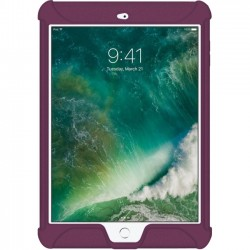 Amzer - AMZ202273 - Amzer Silicone Skin Jelly Case for Apple iPad 9.7 Purple - iPad (2017) - Purple - Textured - Silicone