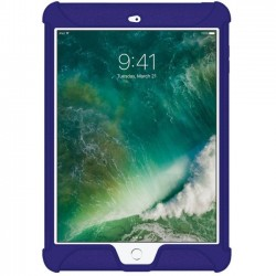 Amzer - AMZ202274 - Amzer Silicone Skin Jelly Case for Apple iPad 9.7 Blue - iPad (2017) - Blue - Textured - Silicone