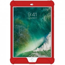 Amzer - AMZ202275 - Amzer Silicone Skin Jelly Case for Apple iPad 9.7 Red - iPad (2017) - Red - Textured - Silicone