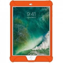 Amzer - AMZ202277 - Amzer Silicone Skin Jelly Case for Apple iPad 9.7 Orange - iPad (2017) - Orange - Textured - Silicone