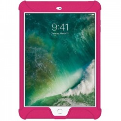 Amzer - AMZ202278 - Amzer Silicone Skin Jelly Case for Apple iPad 9.7 Hot Pink - iPad (2017) - Hot Pink - Textured - Silicone